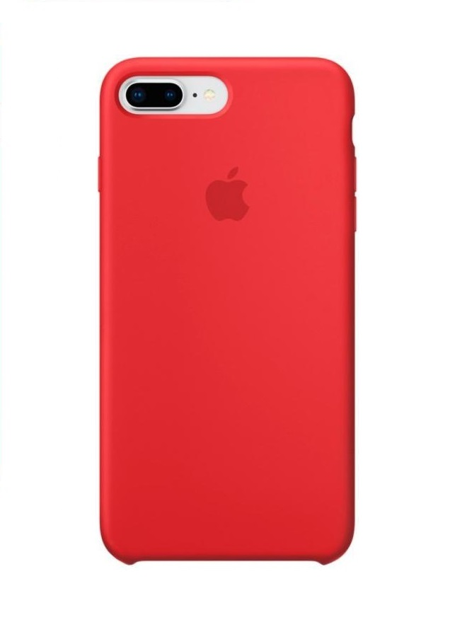 Apple iPhone 8 Plus Silicone Case (HC) - Red