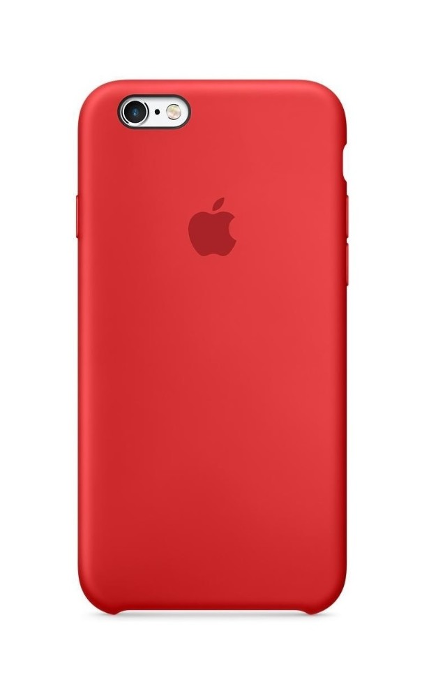 Apple iPhone 6S Plus Silicon Case (HC) - Red